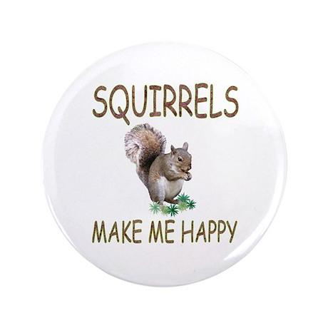 """Squirrels 3.5"""" Button"""