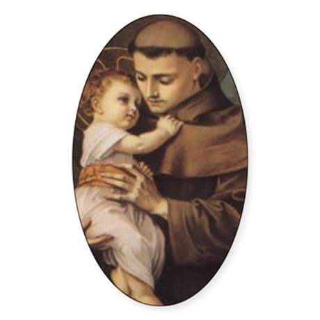 Saint Anthony 2 Oval Sticker