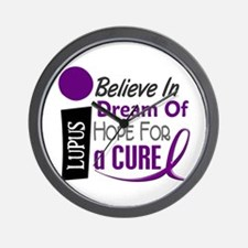 BELIEVE DREAM HOPE Lupus Wall Clock