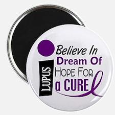 "BELIEVE DREAM HOPE Lupus 2.25"" Magnet (100 pack)"