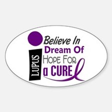 BELIEVE DREAM HOPE Lupus Oval Sticker (10 pk)