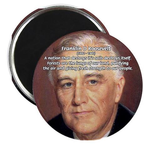 American President FDR Magnet