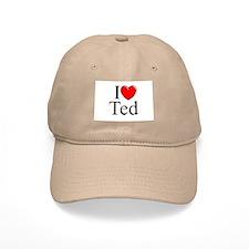 """I Love (Heart) Ted"" Baseball Cap"