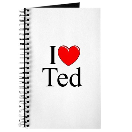 """I Love (Heart) Ted"" Journal"