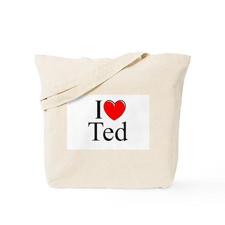 """I Love (Heart) Ted"" Tote Bag"