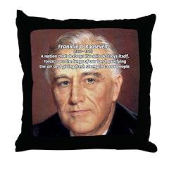 American President FDR Throw Pillow