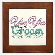 YiaYia of the Groom Framed Tile