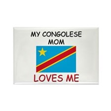 My Congolese Mom Loves Me Rectangle Magnet