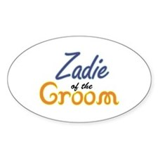 Zadie of the Groom Oval Decal