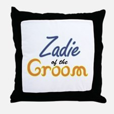 Zadie of the Groom Throw Pillow