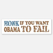 Anti Obama Honk & Fail Bumper Bumper Sticker