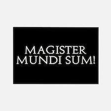 Magister Mundi Sum! Rectangle Magnet