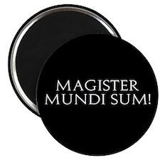 """Magister Mundi Sum! 2.25"""" Magnet (10 pack)"""