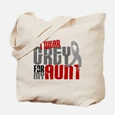 I Wear Grey For My Aunt 6 Tote Bag