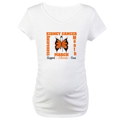 Kidney Cancer Month Maternity T-Shirt
