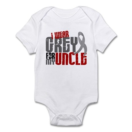 I Wear Grey For My Uncle 6 Infant Bodysuit