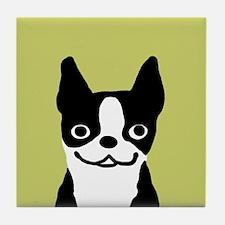 Boston Terrier Smile Tile Coaster