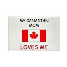 My Canadian Mom Loves Me Rectangle Magnet