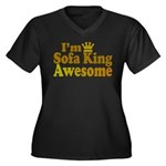I'm Sofa King Awesome Women's Plus Size V-Neck Dar