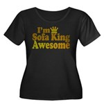 I'm Sofa King Awesome Women's Plus Size Scoop Neck