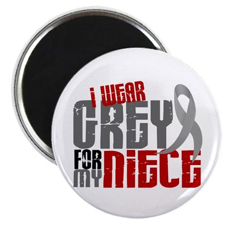 "I Wear Grey For My Niece 6 2.25"" Magnet (10 pack)"