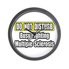 """""""Fighting Multiple Sclerosis"""" Wall Clock"""