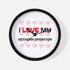 I Love My Network Operator Wall Clock