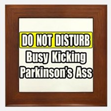 """""""Kicking Parkinson's Ass"""" Framed Tile"""