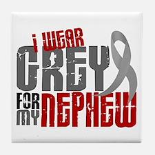 I Wear Grey For My Nephew 6 Tile Coaster