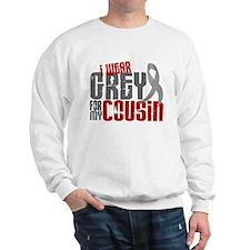 I Wear Grey For My Cousin 6 Sweatshirt