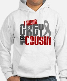 I Wear Grey For My Cousin 6 Hoodie