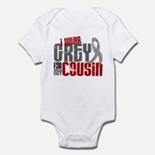 I Wear Grey For My Cousin 6 Infant Bodysuit