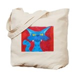 Blue Cat Pastel Tote Bag