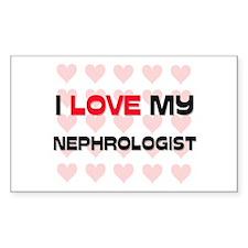 I Love My Nephrologist Rectangle Decal