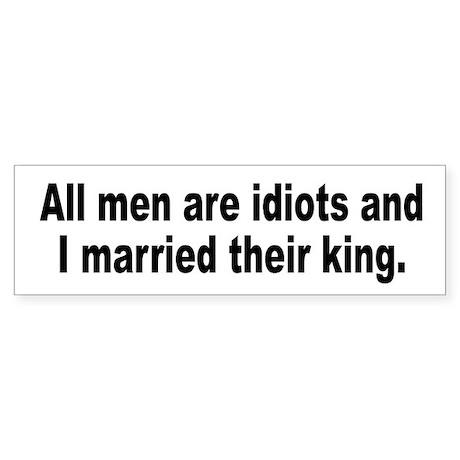 Women's Feminist Man Humor Bumper Sticker