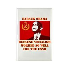 Cute Obama socialist Rectangle Magnet (100 pack)