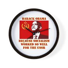 Funny Socialism obama Wall Clock