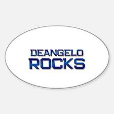 deangelo rocks Oval Decal