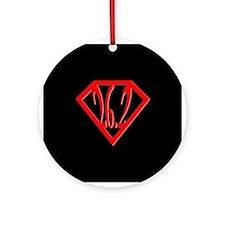 Super Marathoner Ornament (Round)