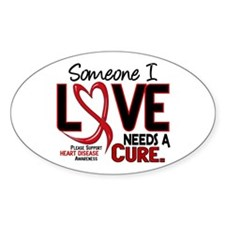 Needs A Cure Heart Disease Oval Decal