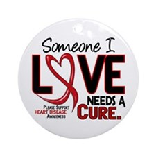 Needs A Cure Heart Disease Ornament (Round)