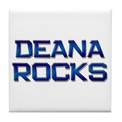 deana rocks Tile Coaster