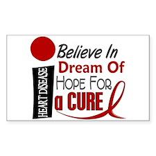 Believe Dream Hope Heart Disease Decal