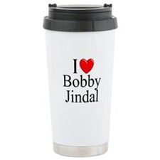 """I Love (Heart) Bobby Jindal"" Travel Mug"