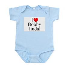 """""""I Love (Heart) Bobby Jindal"""" Infant Bodysuit"""