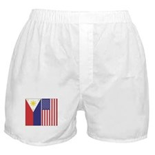 Philippine and US Flags Boxer Shorts