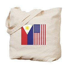 Philippine and US Flags Tote Bag