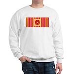 Funky Flower and Stripe Sweatshirt