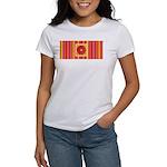 Funky Flower and Stripe Women's T-Shirt