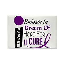 BELIEVE DREAM HOPE Fibromyalgia Rectangle Magnet